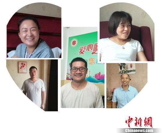 """河南5名志愿者同日捐""""生命种子"""" 文梅英 摄"""