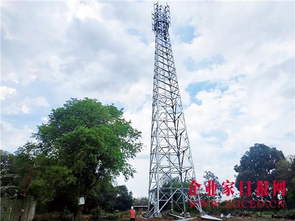 中铁八局海外公司菲律宾南吕宋项目部修建的通讯铁塔.jpg